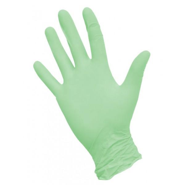 Перчатки нитриловые  текстурированные зеленые NitriMax