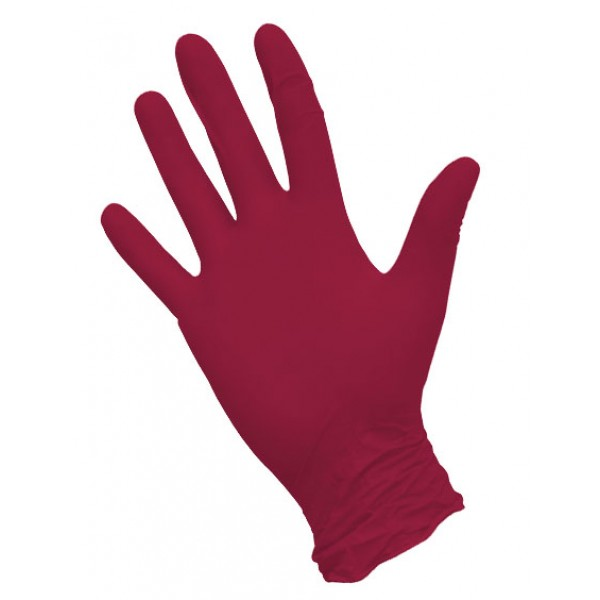 Перчатки нитриловые  текстурированные красные NitriMax