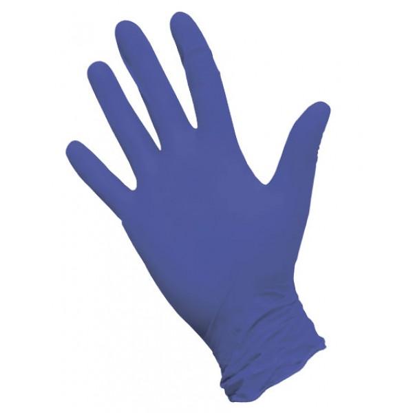 Перчатки нитриловые  текстурированные фиолетовые NitriMax