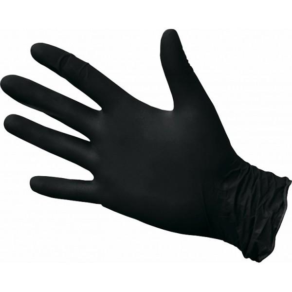 Перчатки нитриловые  текстурированные черные NitriMax