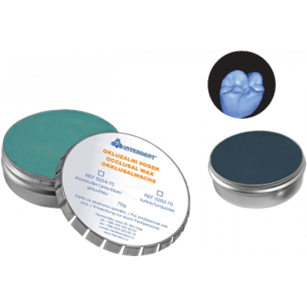 Воск окклюзионный серо-синий Interdent