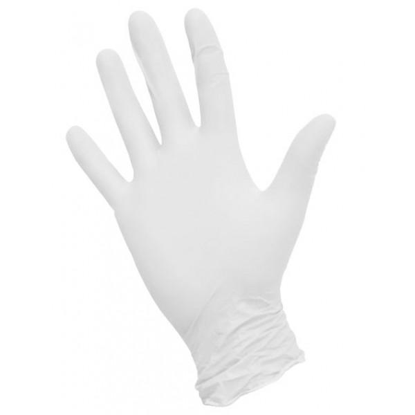 Перчатки нитриловые  текстурированные белые NitriMax
