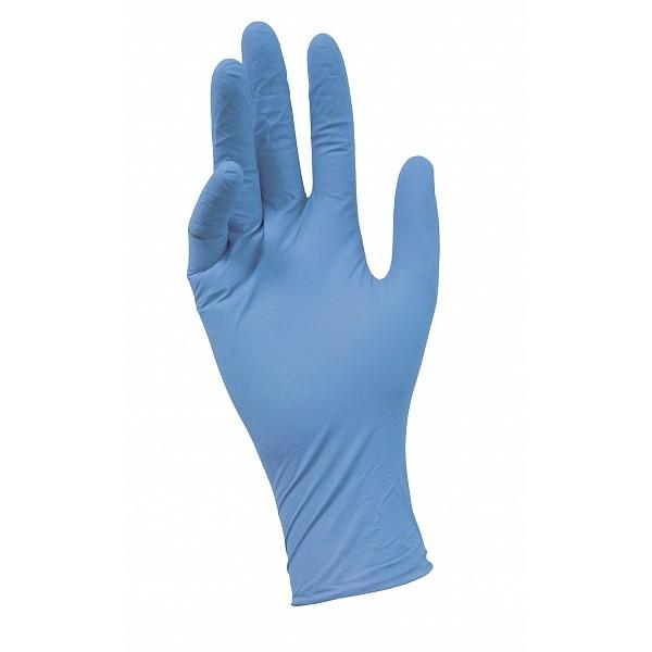 Перчатки нитриловые  текстурированные голубые NitriMax