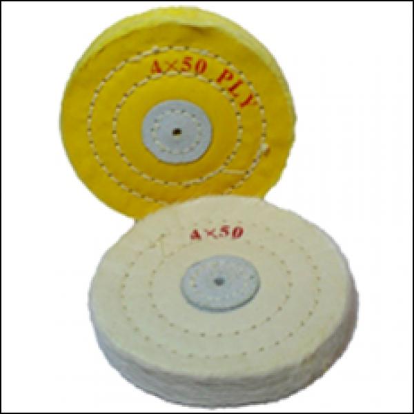 Диски полировочные х/б, 100х10мм бел.(4х50)
